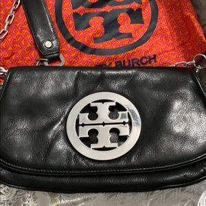 100% Authentic Tory Burch black chained crossbody.